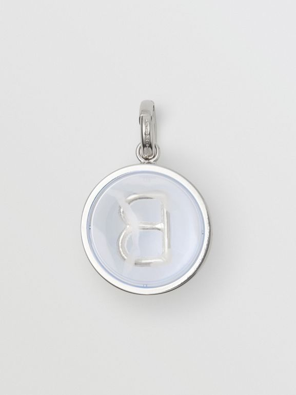 Marbled Resin 'B' Alphabet Charm in Palladio/nacre - Women | Burberry - cell image 1