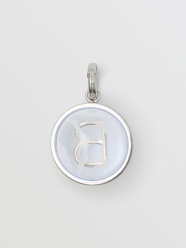 Marbled Resin 'B' Alphabet Charm in Palladio/nacre - Women | Burberry - cell image 3