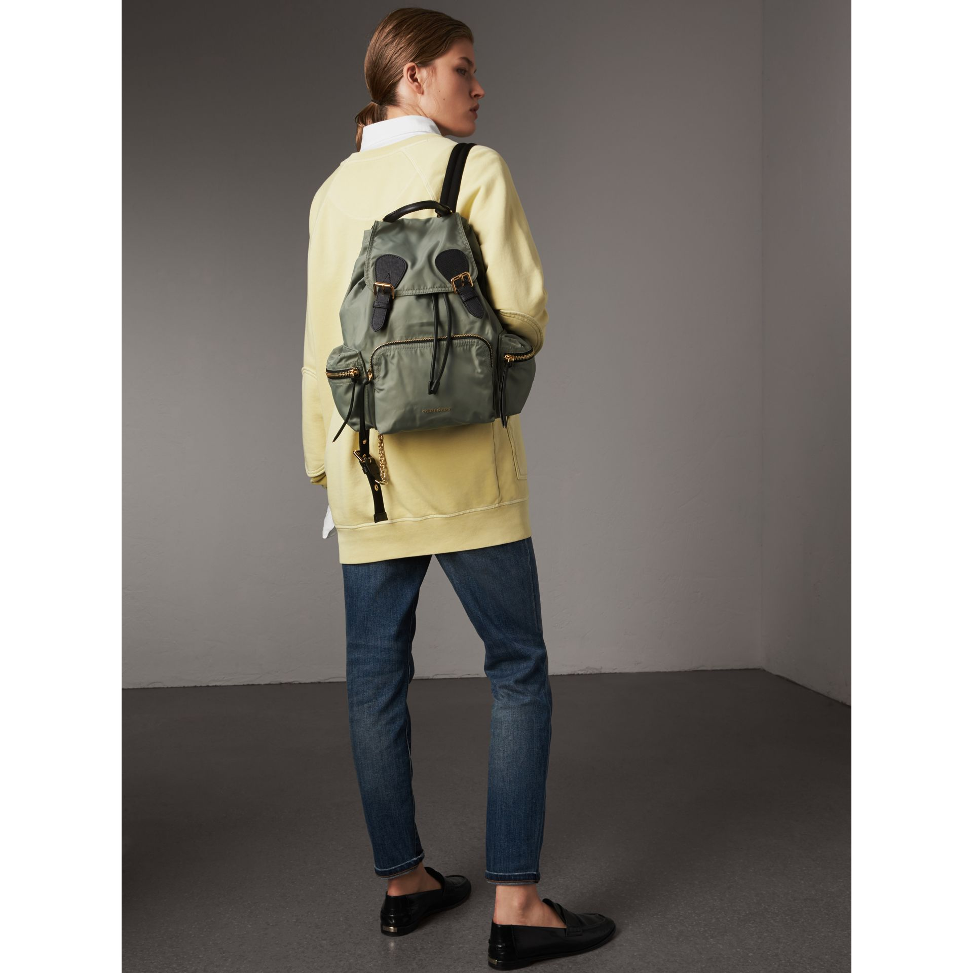 0d697fe94839 Burberry Medium Nylon And Leather Backpack- Fenix Toulouse Handball