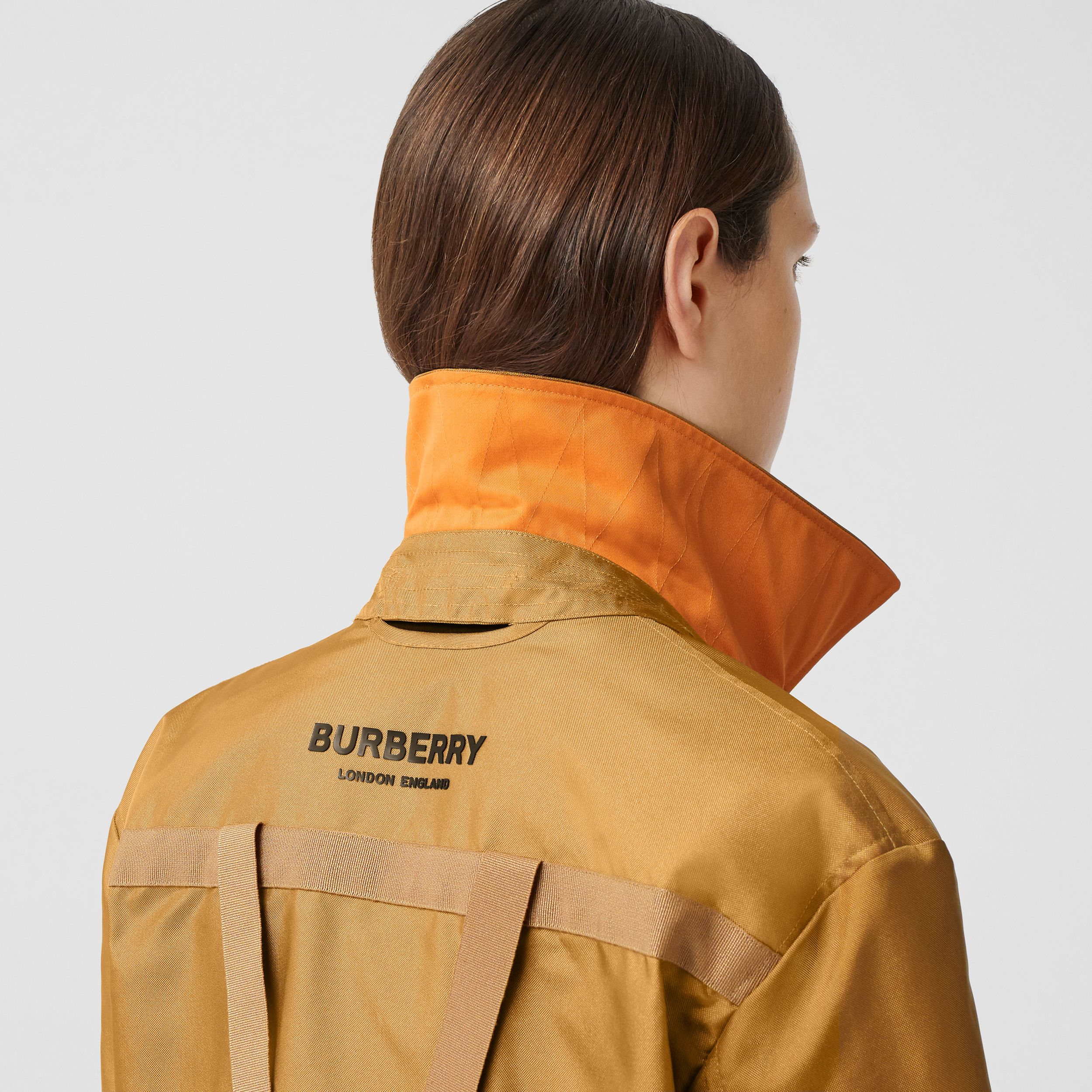 Logo Print Technical Canvas Field Jacket - Women | Burberry - 4