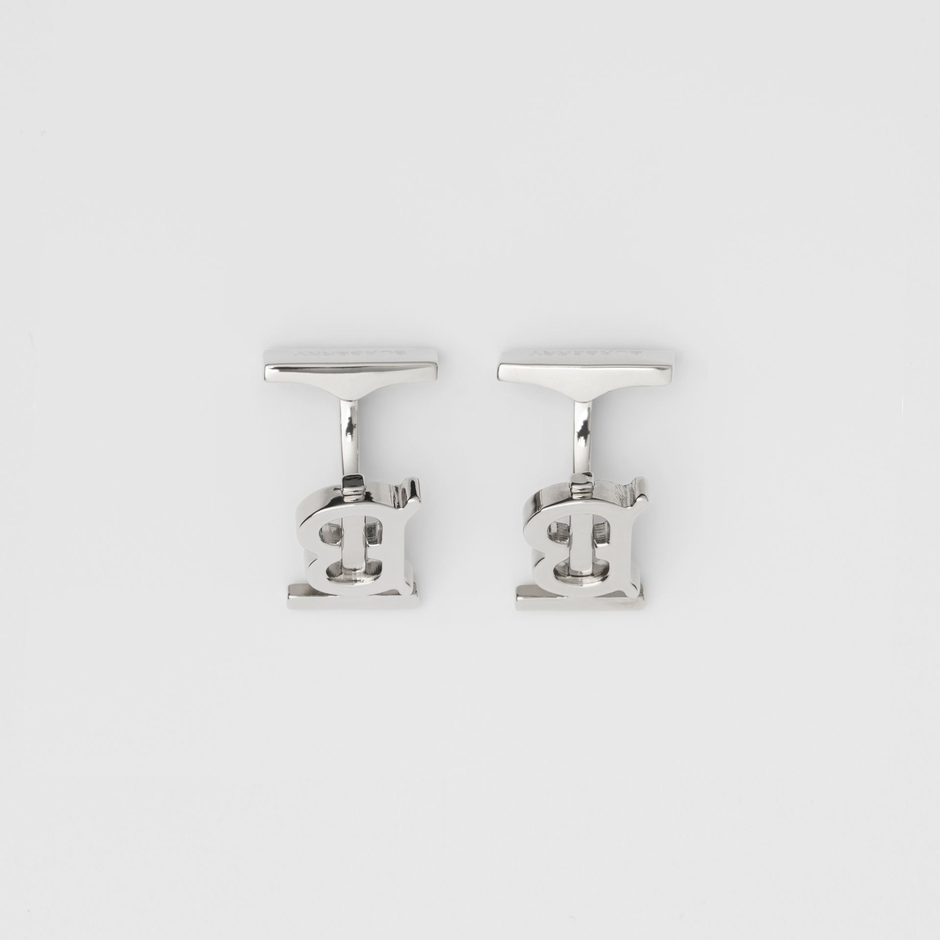 Monogram Motif Palladium-plated Cufflinks - Men | Burberry Australia - gallery image 2
