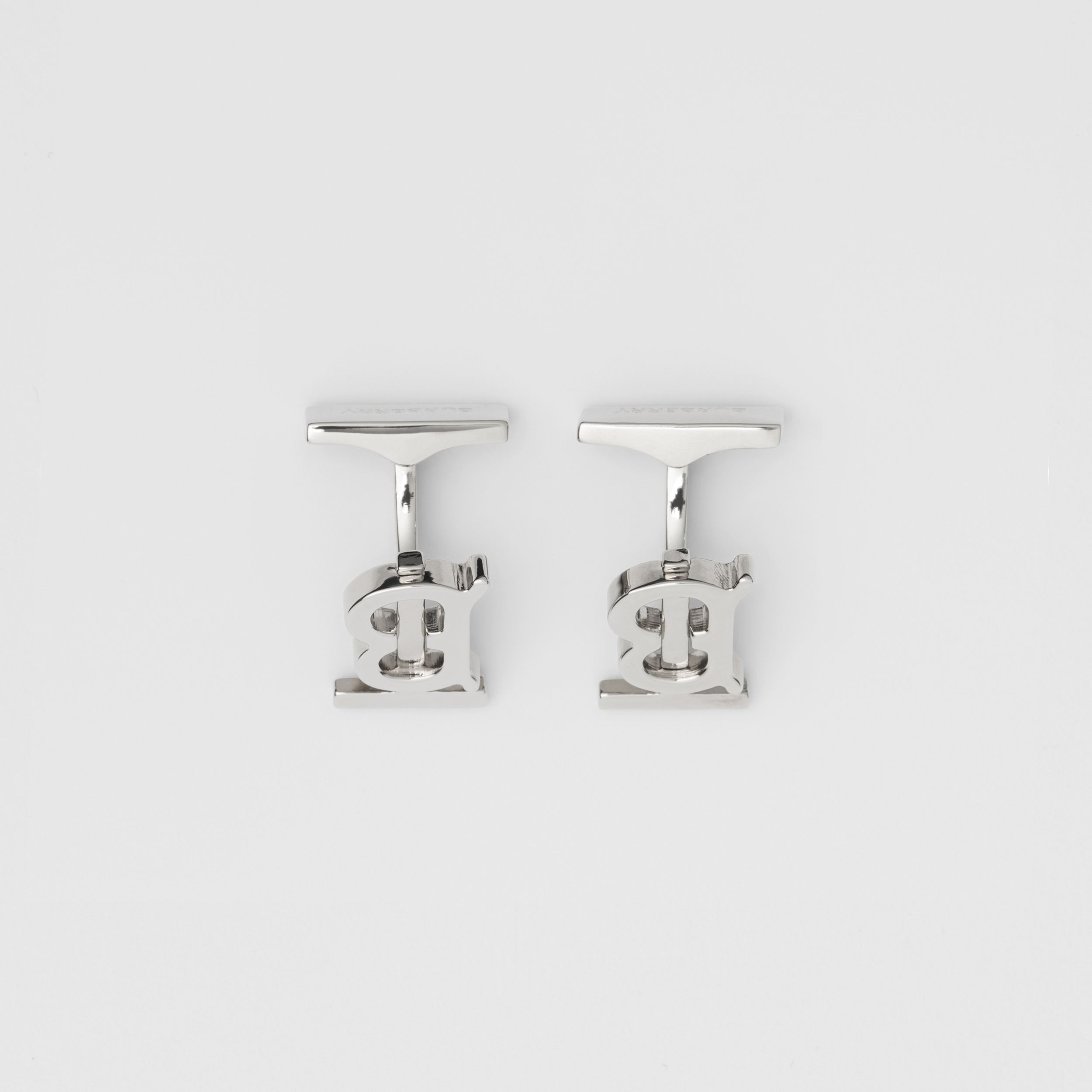 Monogram Motif Palladium-plated Cufflinks - Men | Burberry - 3