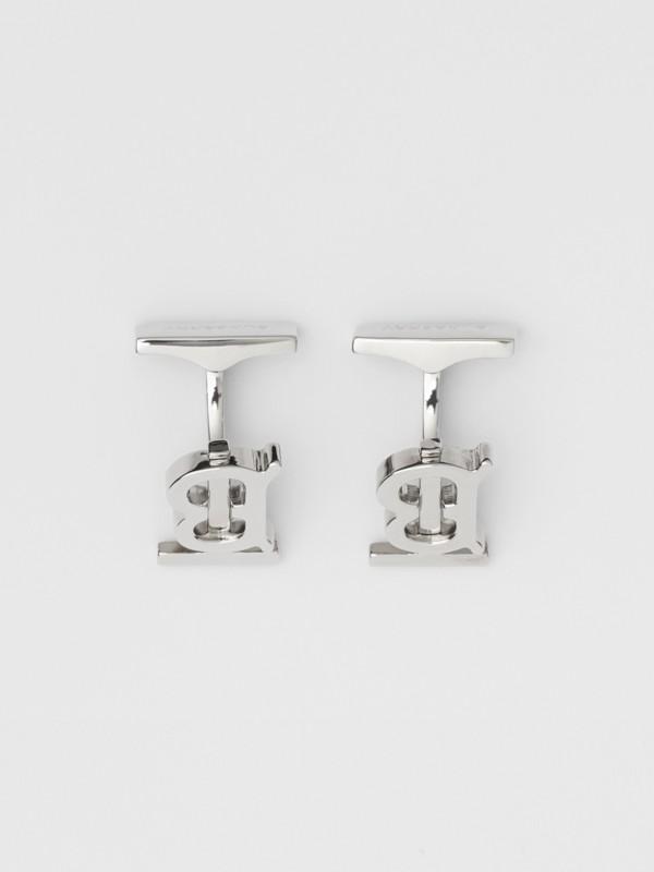 Monogram Motif Palladium-plated Cufflinks - Men | Burberry Australia - cell image 2
