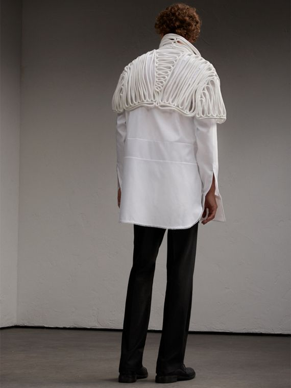 Hand-looped Rope Cape in White - Men | Burberry - cell image 2