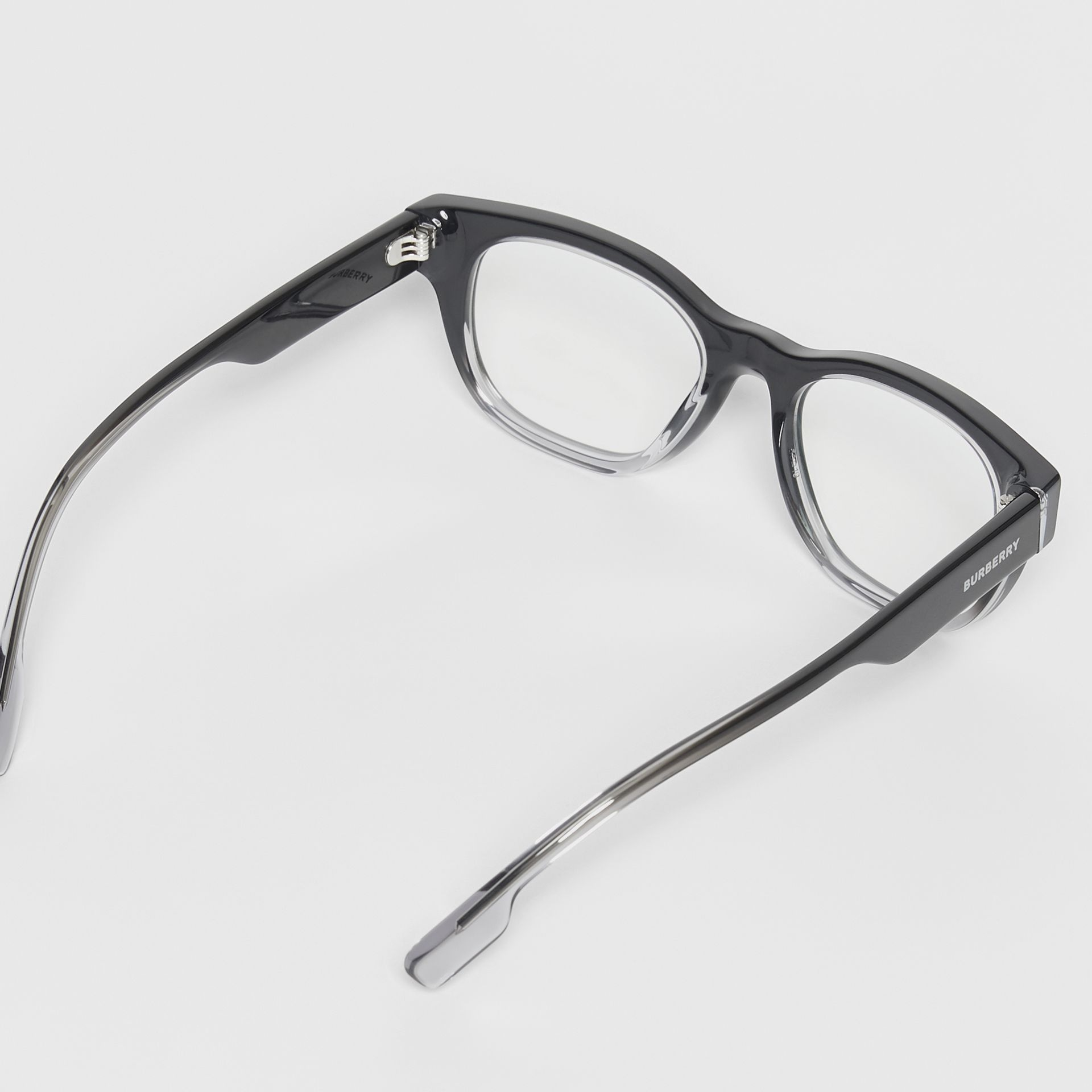 Square Optical Frames in Black - Men | Burberry United Kingdom - gallery image 4