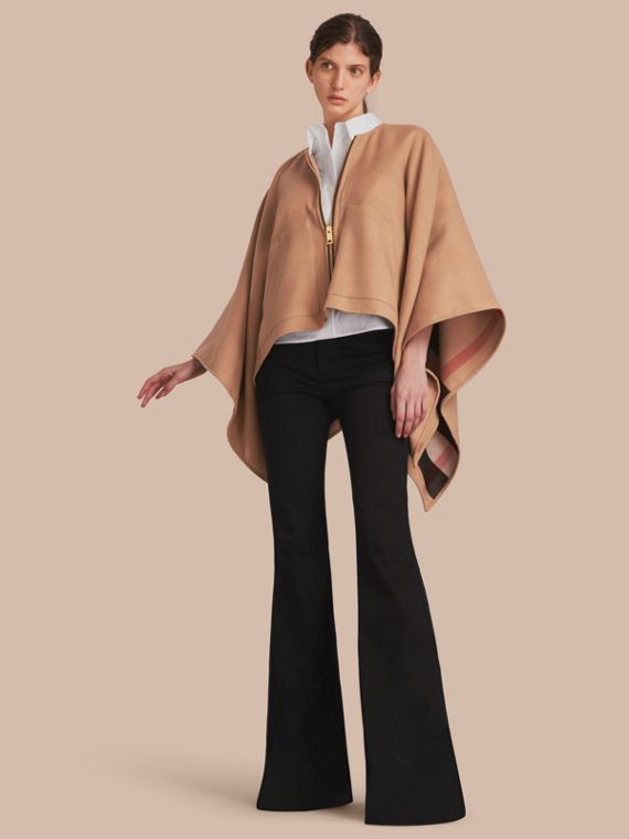 Merino Wool Cape Camel