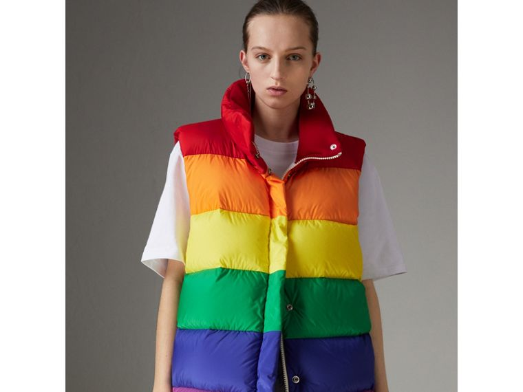 Rainbow Down-filled Gilet - Women | Burberry - cell image 4