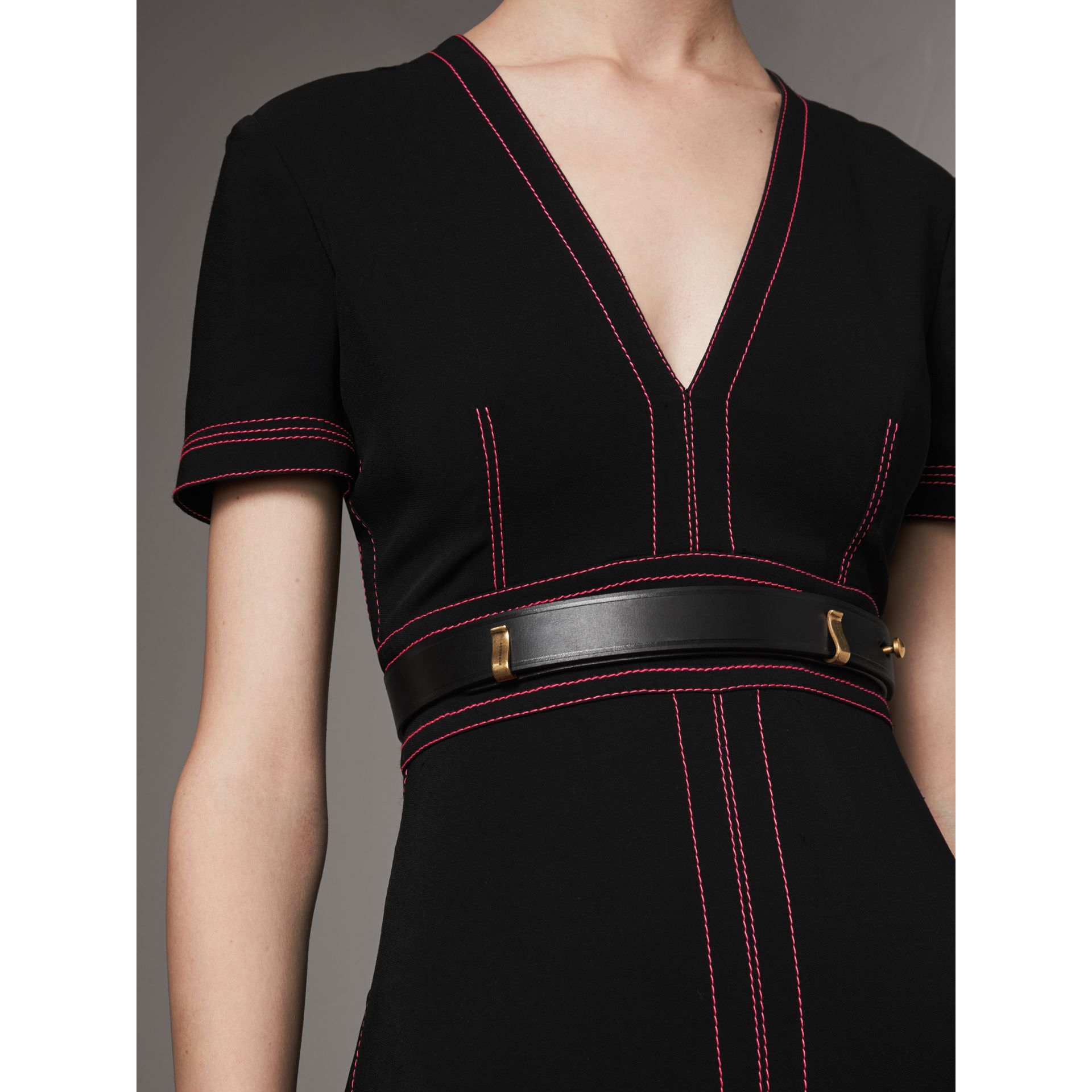 Bridle Leather Belt in Black - Women | Burberry - gallery image 2