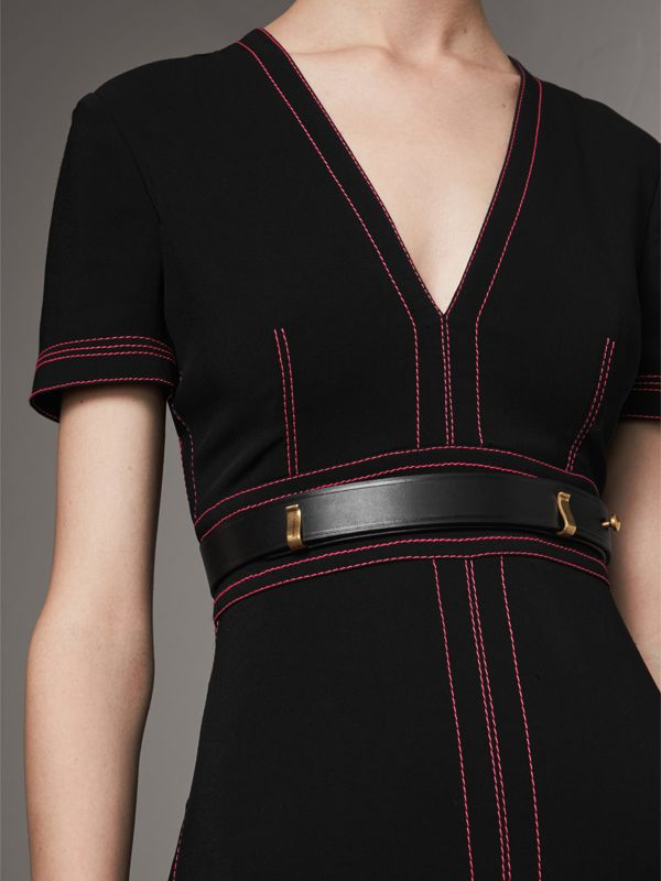 Bridle Leather Belt in Black - Women | Burberry Singapore - cell image 2