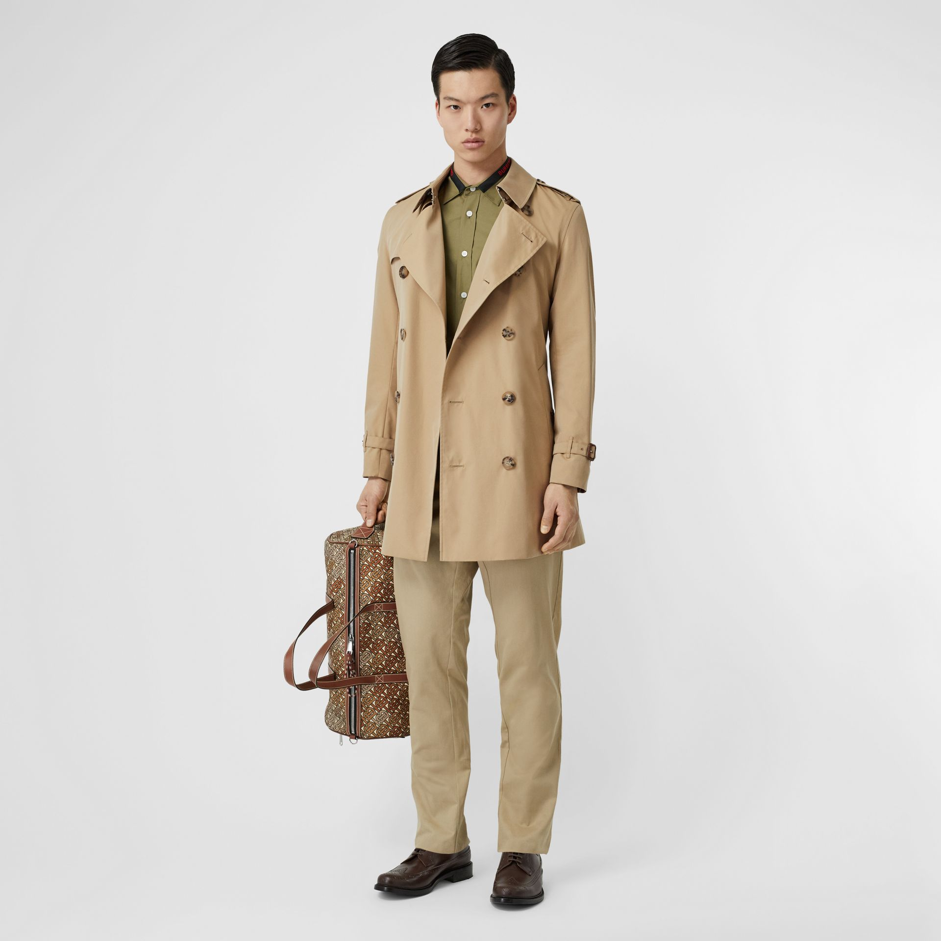 Cotton Gabardine Trench Coat in Honey - Men | Burberry - gallery image 0