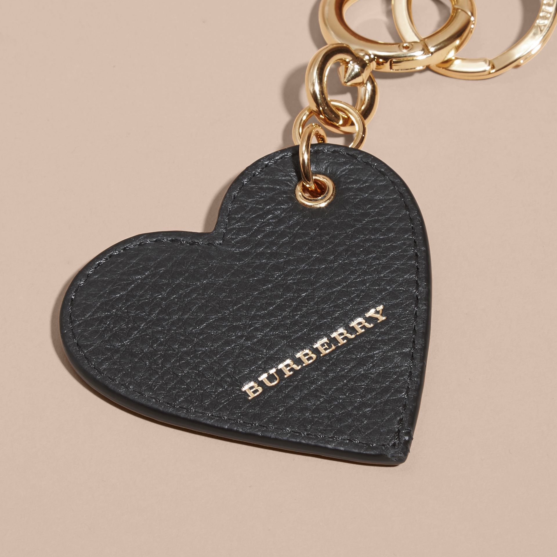 Sequinned Heart Key Charm in White/black - gallery image 5