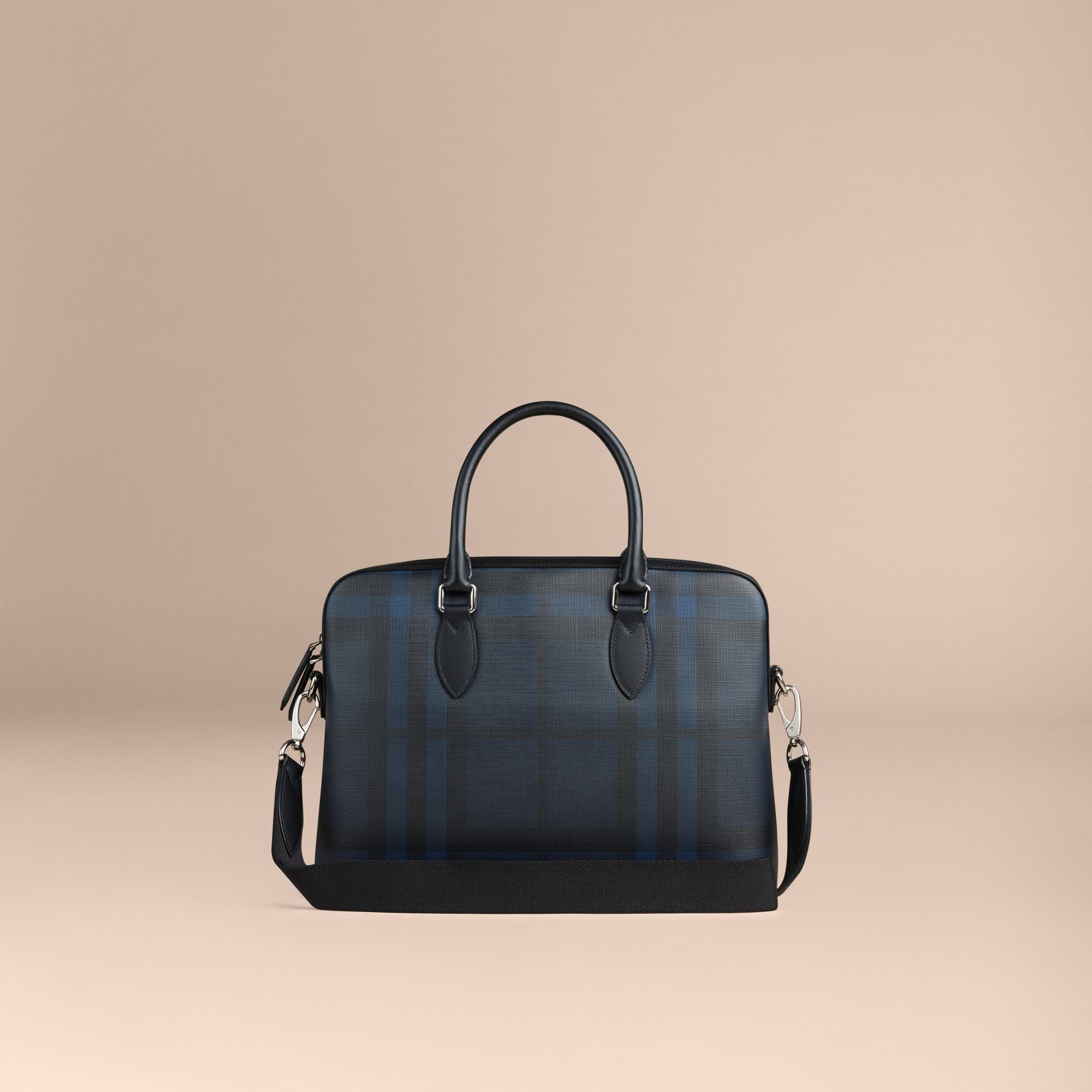 The Barrow in London Check in Navy/black - Men | Burberry United Kingdom - gallery image 1