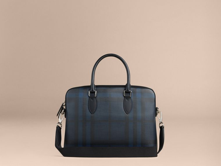Pasta Barrow com estampa London Check (Azul Marinho/preto) - Homens | Burberry - cell image 1