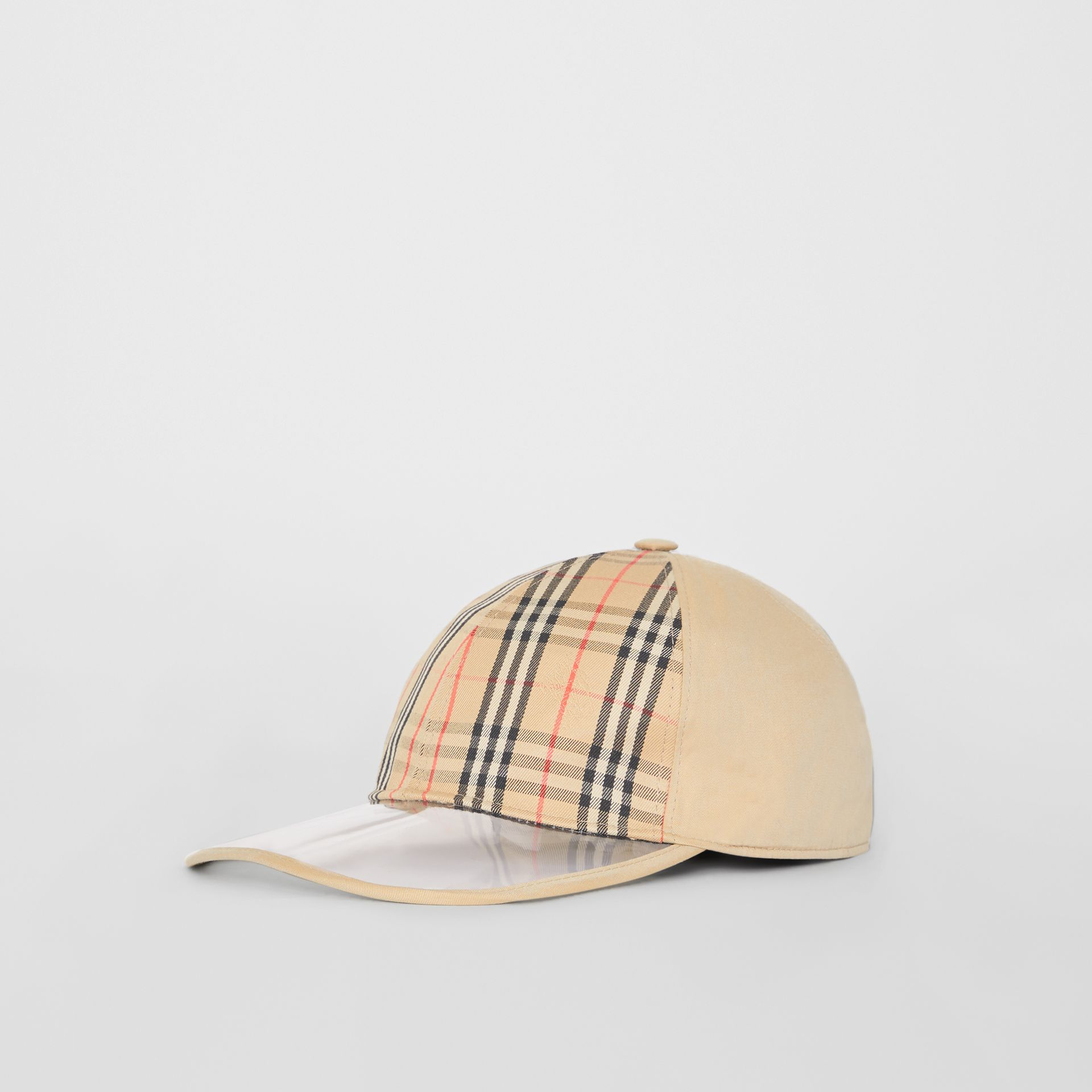 1983 Check Baseball Cap in Dark Sand | Burberry Australia - gallery image 3