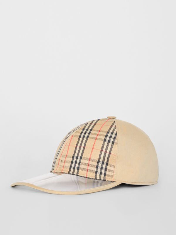 1983 Check Baseball Cap in Dark Sand | Burberry Australia - cell image 3