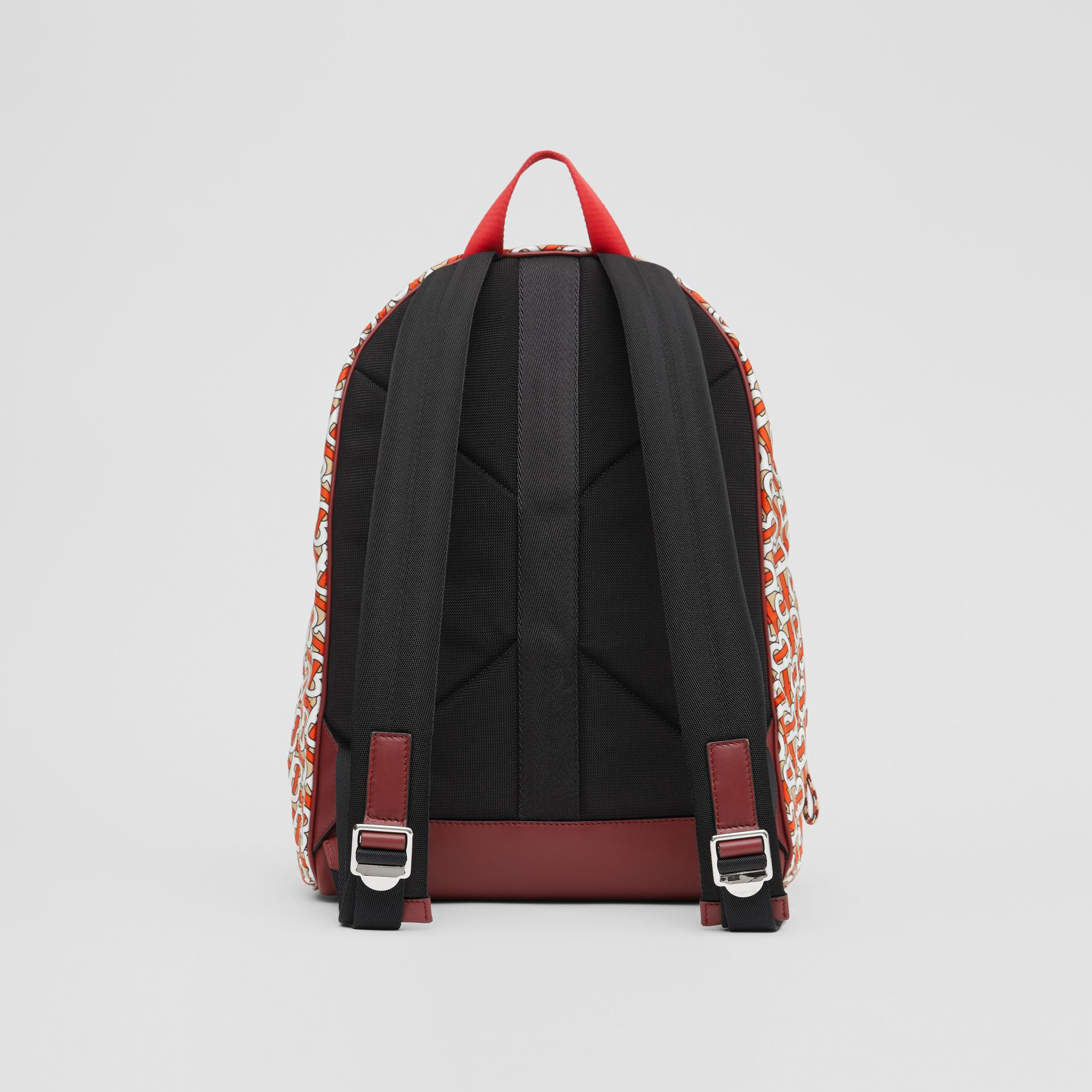 Monogram Print Nylon Backpack in Vermillion | Burberry United Kingdom - gallery image 7