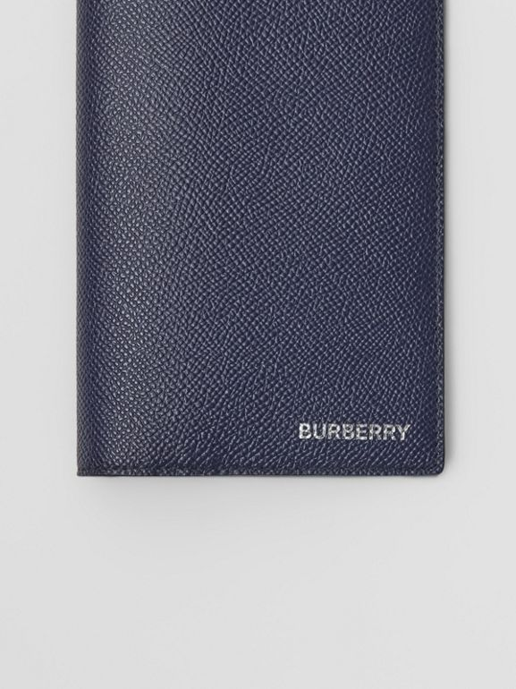 Grainy Leather Continental Wallet in Regency Blue - Men | Burberry - cell image 1