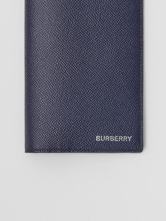 Portefeuille continental en cuir grainé (Bleu Régence) - Homme | Burberry Canada - cell image 1