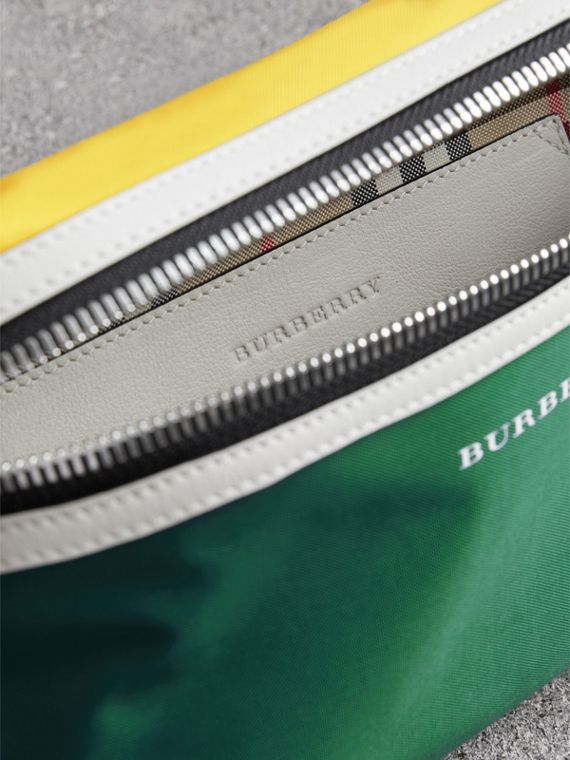 Tri-tone Nylon and Leather Bum Bag in Pine Green | Burberry United Kingdom - cell image 3