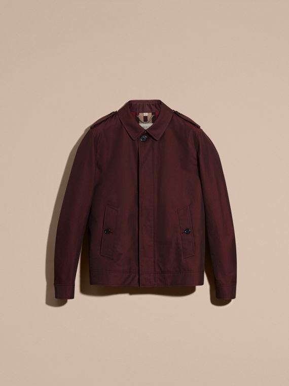 Mahogany red Cotton Gabardine Jacket Mahogany Red - cell image 3