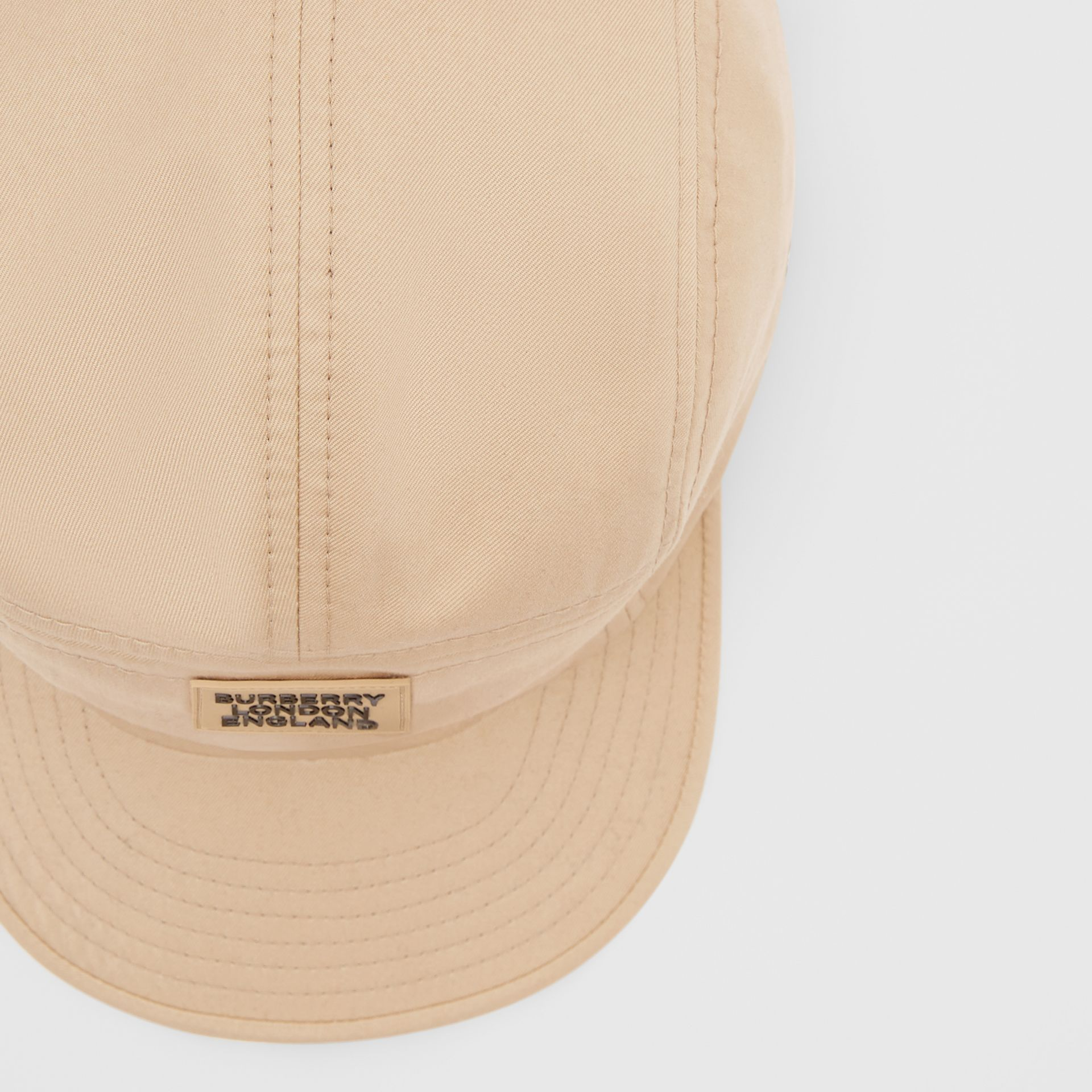 Logo Appliqué Cotton Twill Cap in Soft Fawn | Burberry - gallery image 1