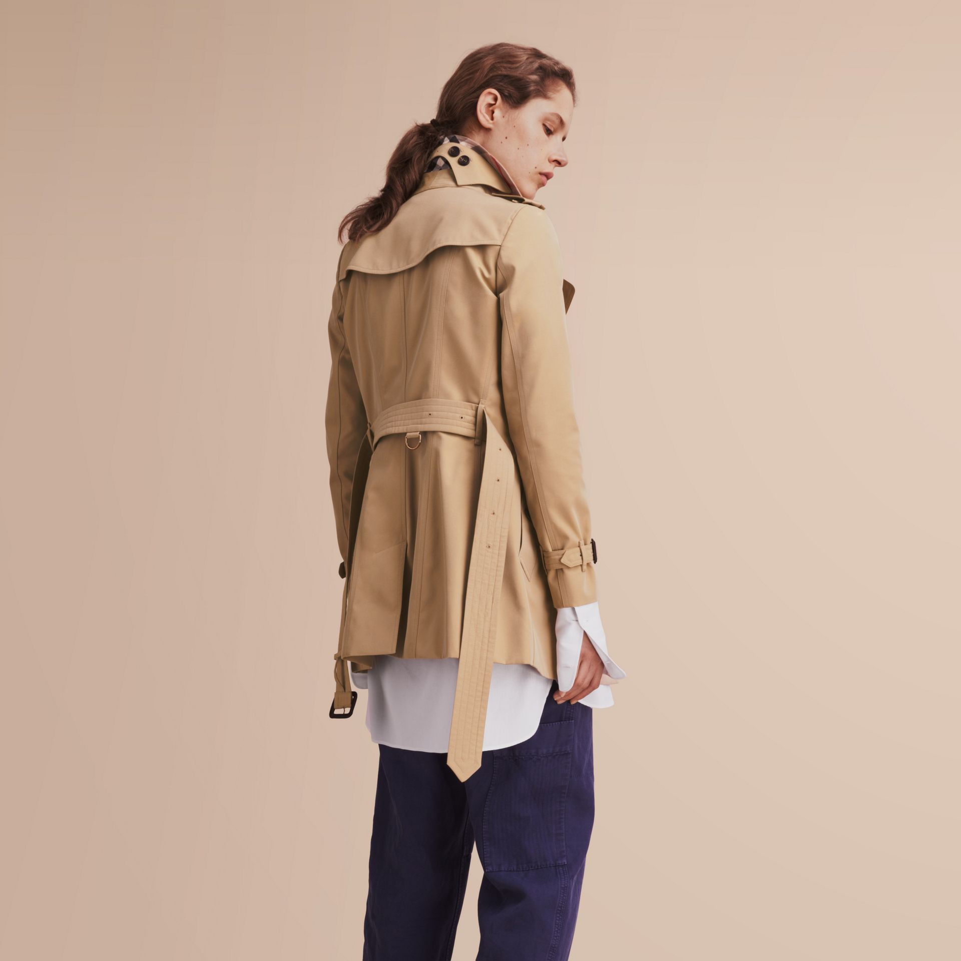 The Chelsea – Short Heritage Trench Coat Honey - gallery image 3