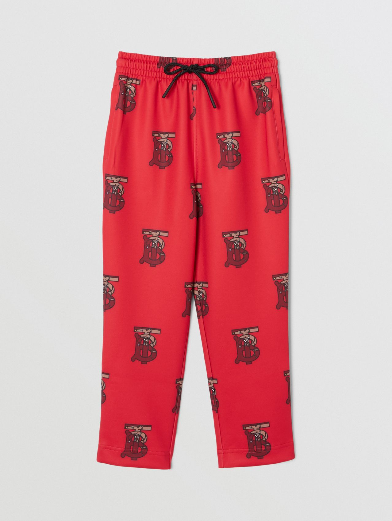 Monogram Motif Neoprene Trackpants in Bright Red