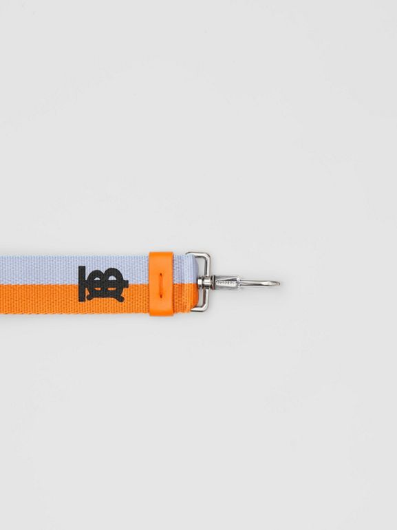 Bijou porte-clés bicolore Monogram (Baby Blue/orange Vif) - Homme | Burberry - cell image 1