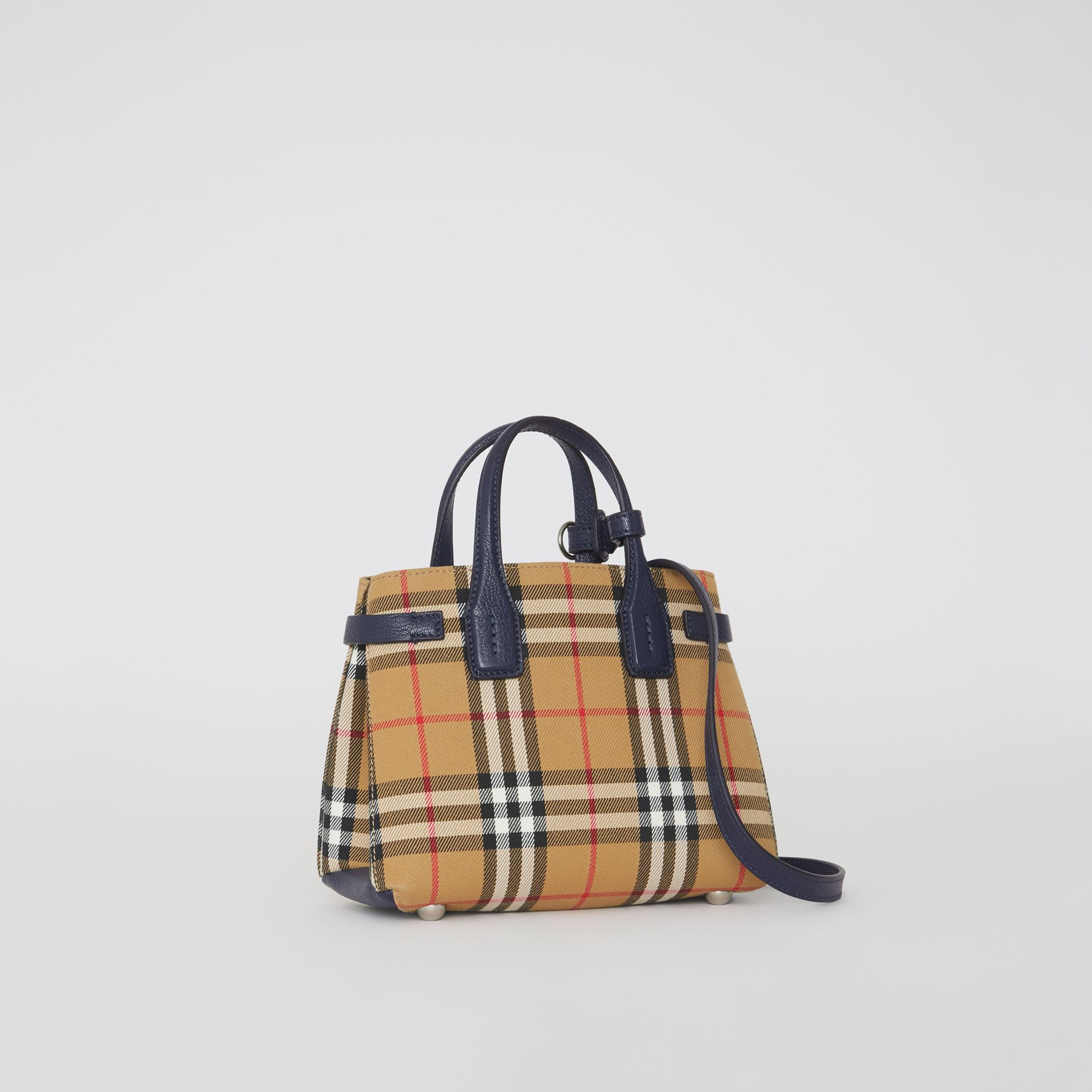 The Baby Banner in Vintage Check and Leather in Regency Blue - Women | Burberry Canada - gallery image 0