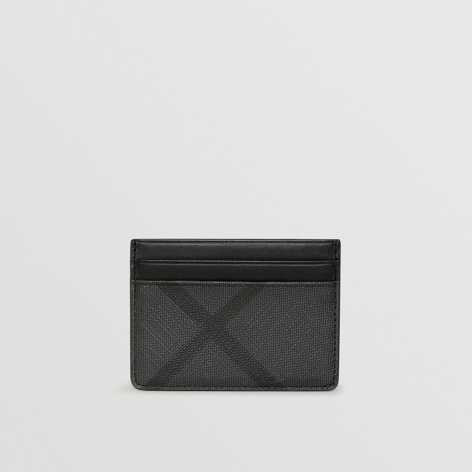 London Check Card Case in Charcoal/black - Men | Burberry Hong Kong - gallery image 5