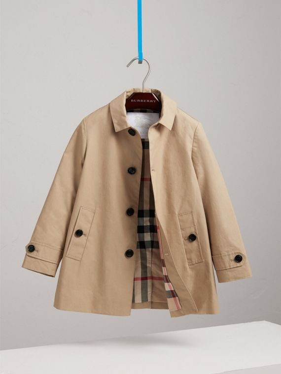 Mercerised Cotton Car Coat in Honey