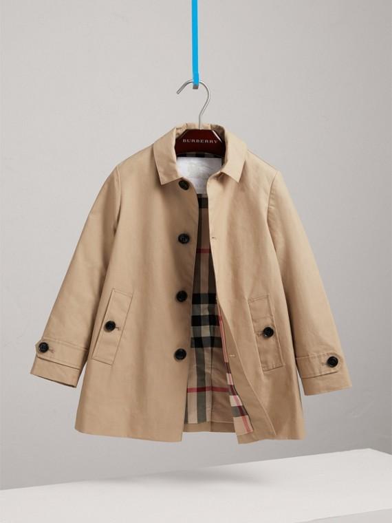 Укороченное пальто из мерсеризованного хлопка (Медовый)