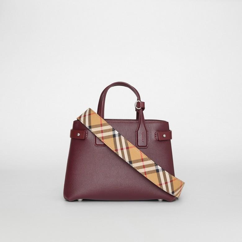 Burberry - Petit sac TheBanner en cuir avec Vintage check - 9