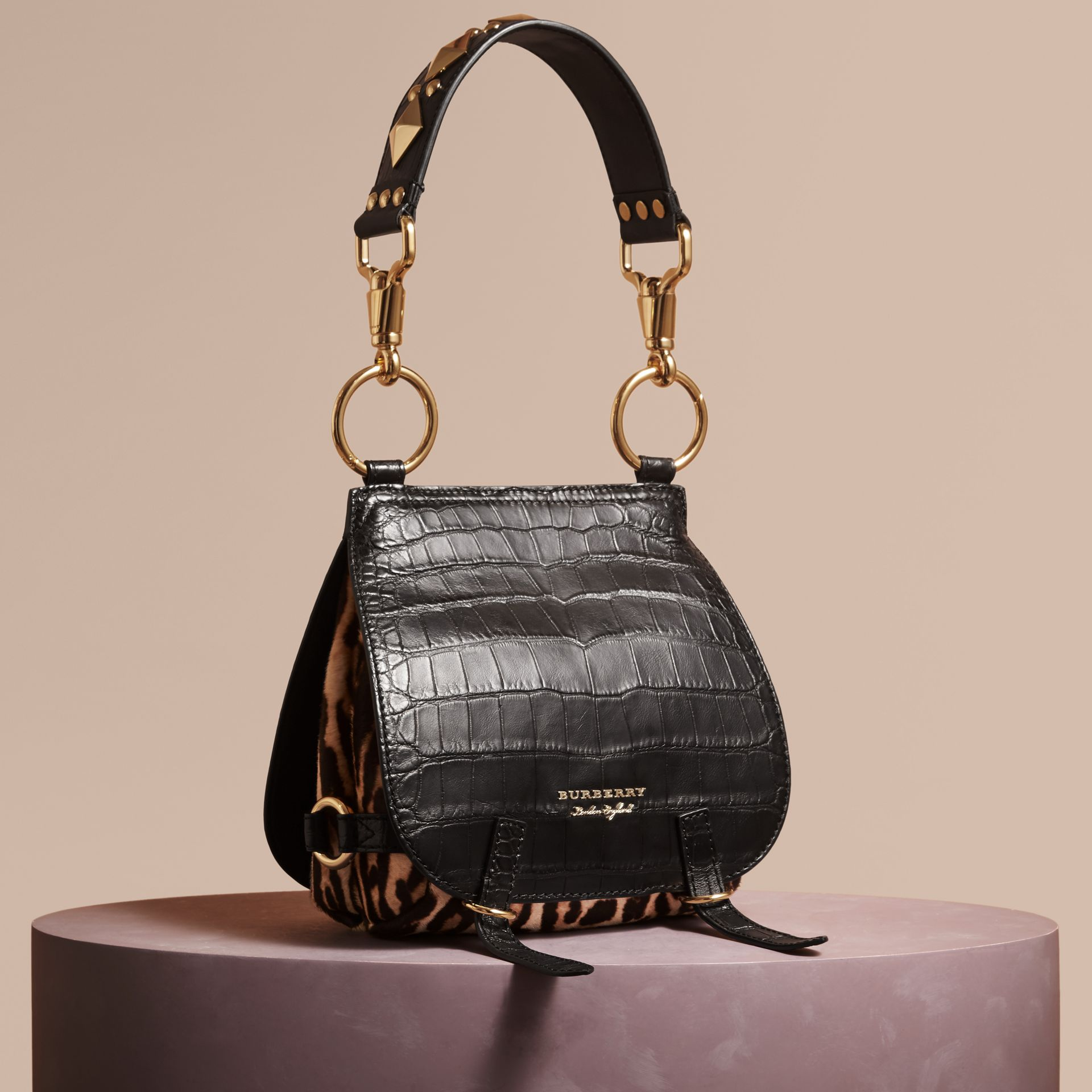 Black The Bridle Bag in Alligator and Calfskin - gallery image 1