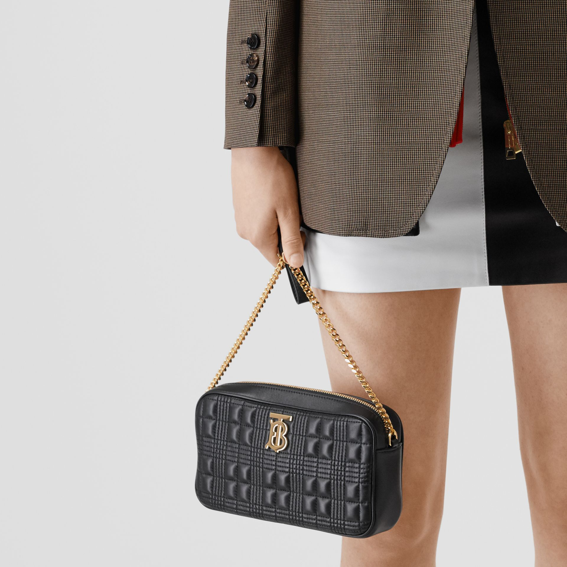 Quilted Lambskin Camera Bag in Black - Women | Burberry Hong Kong S.A.R - gallery image 5