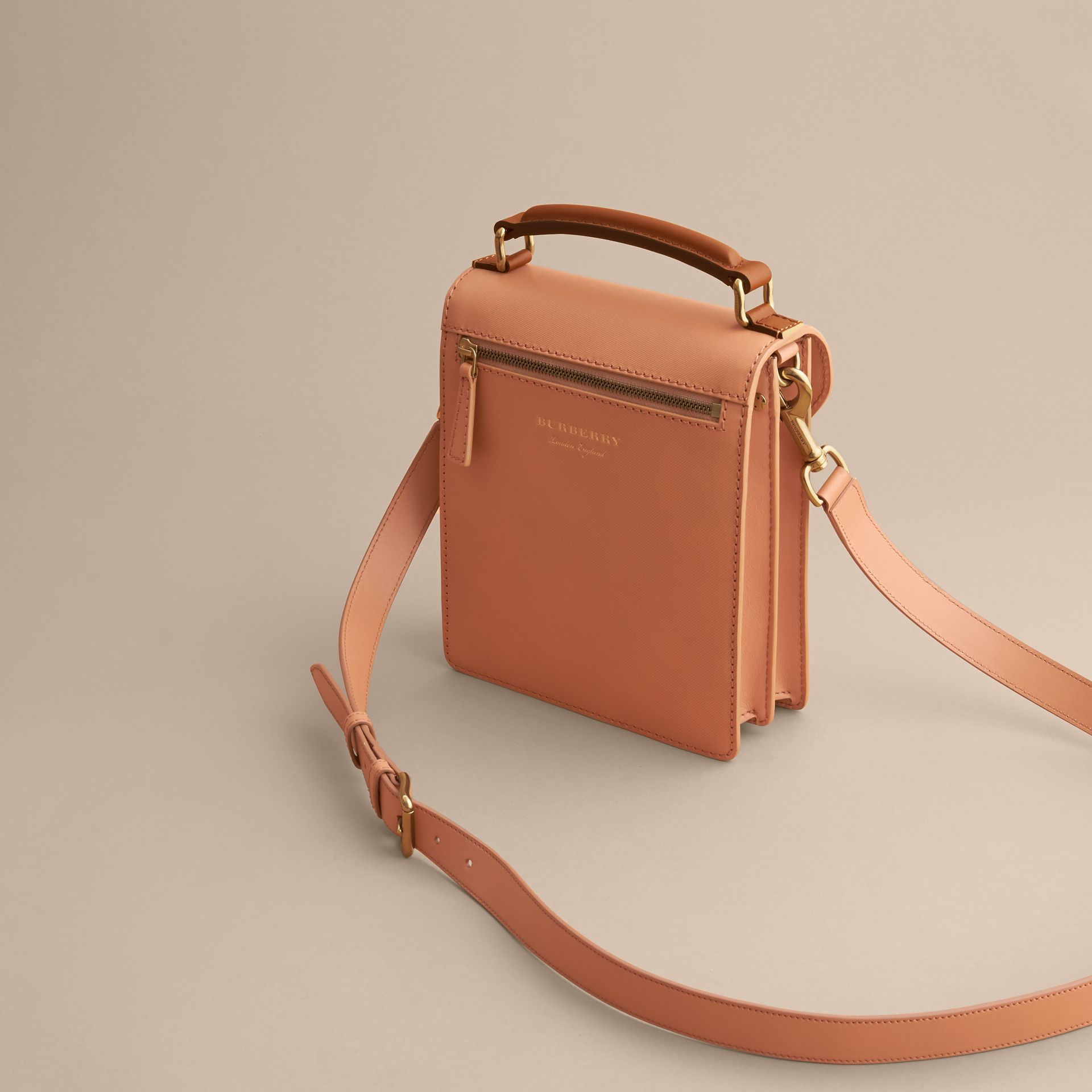 The Small DK88 Satchel in Pale Clementine - Men | Burberry - gallery image 4