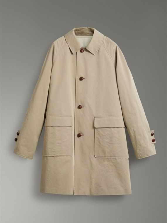 Reissued Waxed Cotton Gabardine Car Coat in Khaki - Men | Burberry Canada - cell image 3