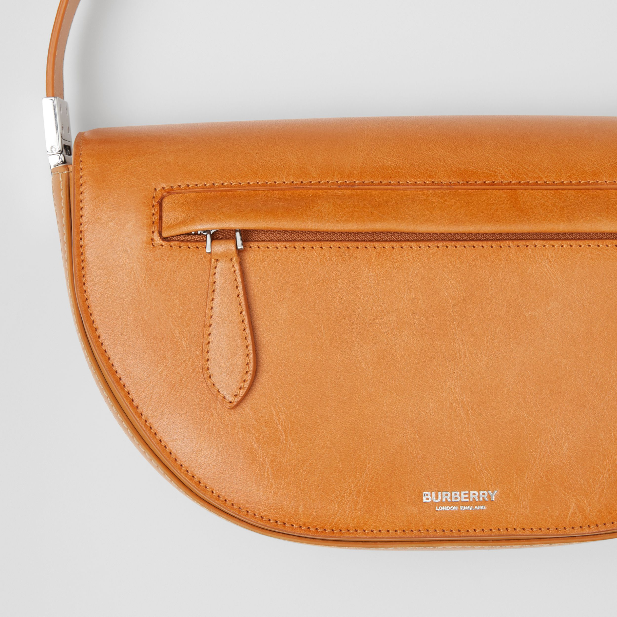 Small Leather Olympia Bag in Pale Orange - Women | Burberry - 2