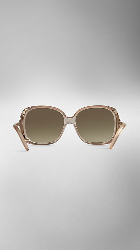 Sepia Trench Collection Oversize Rounded Frame Sunglasses - Image 2