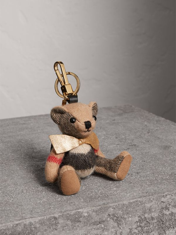 Thomas Bear Charm with Rucksack in Camel | Burberry Canada - cell image 3