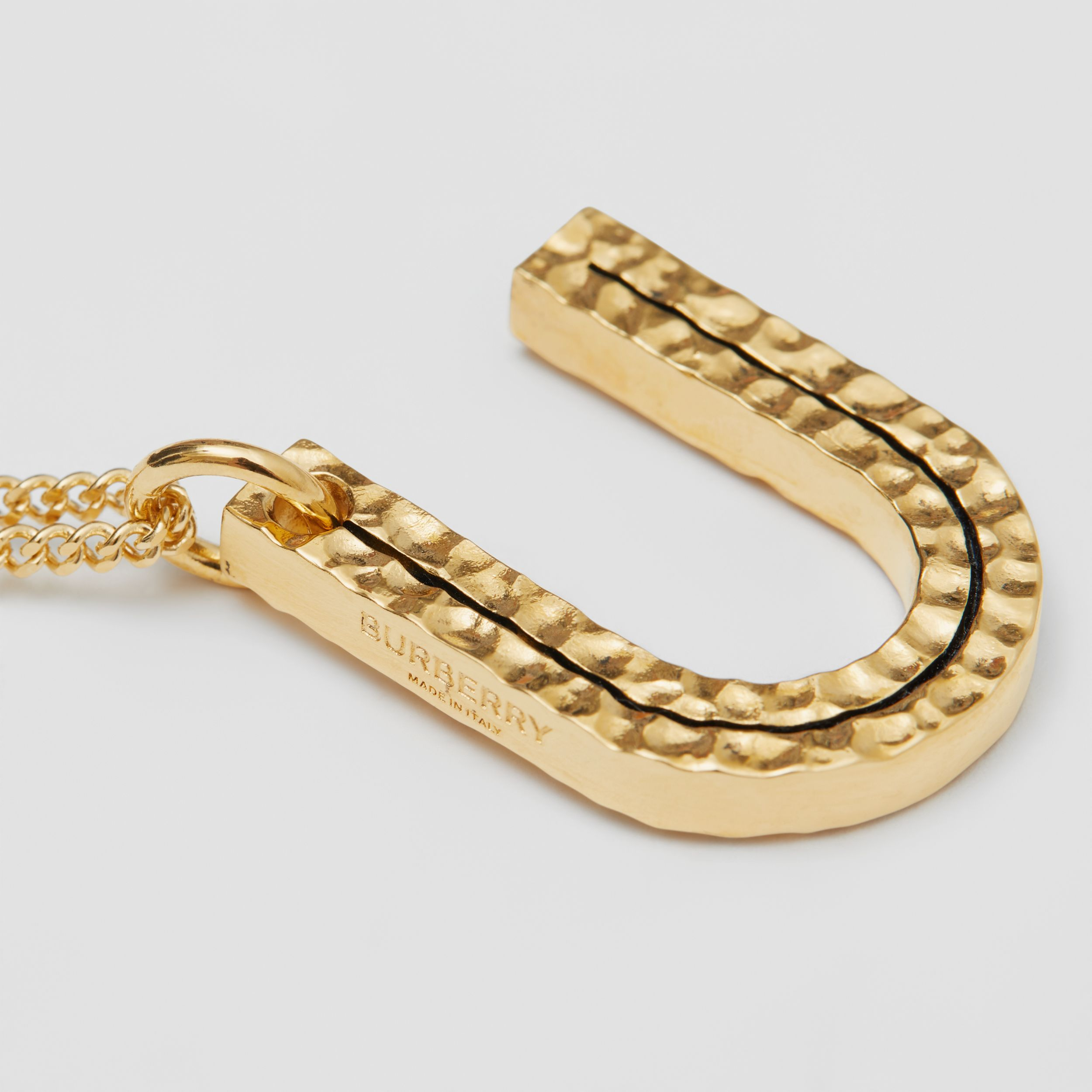 'U' Alphabet Charm Gold-plated Necklace in Light - Women | Burberry - 2