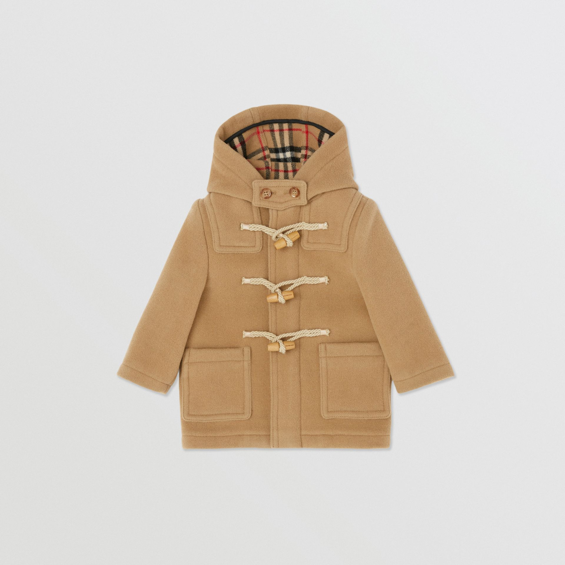 Boiled Wool Duffle Coat in Archive Beige - Children | Burberry - gallery image 0