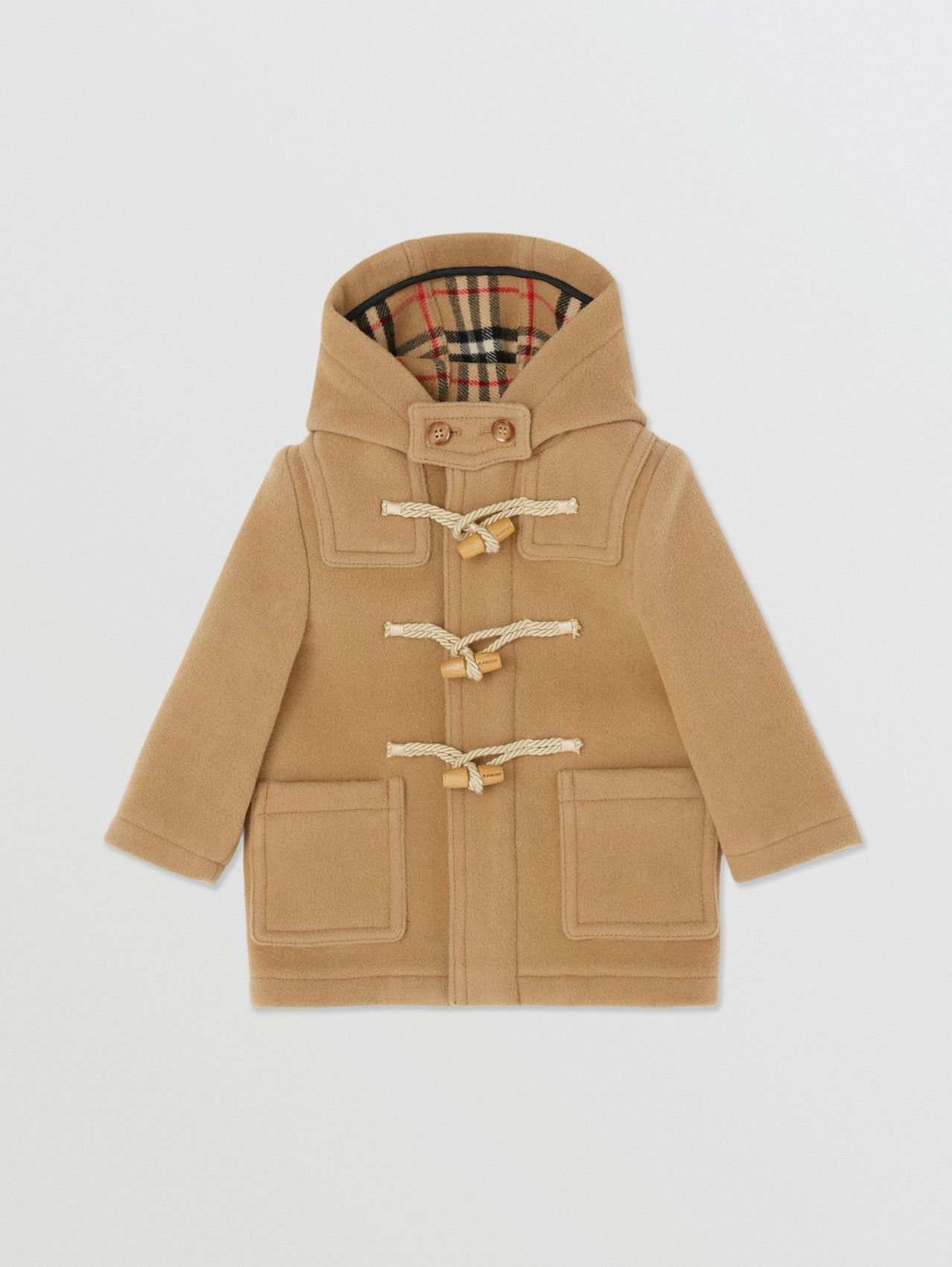 Boiled Wool Duffle Coat in Archive Beige