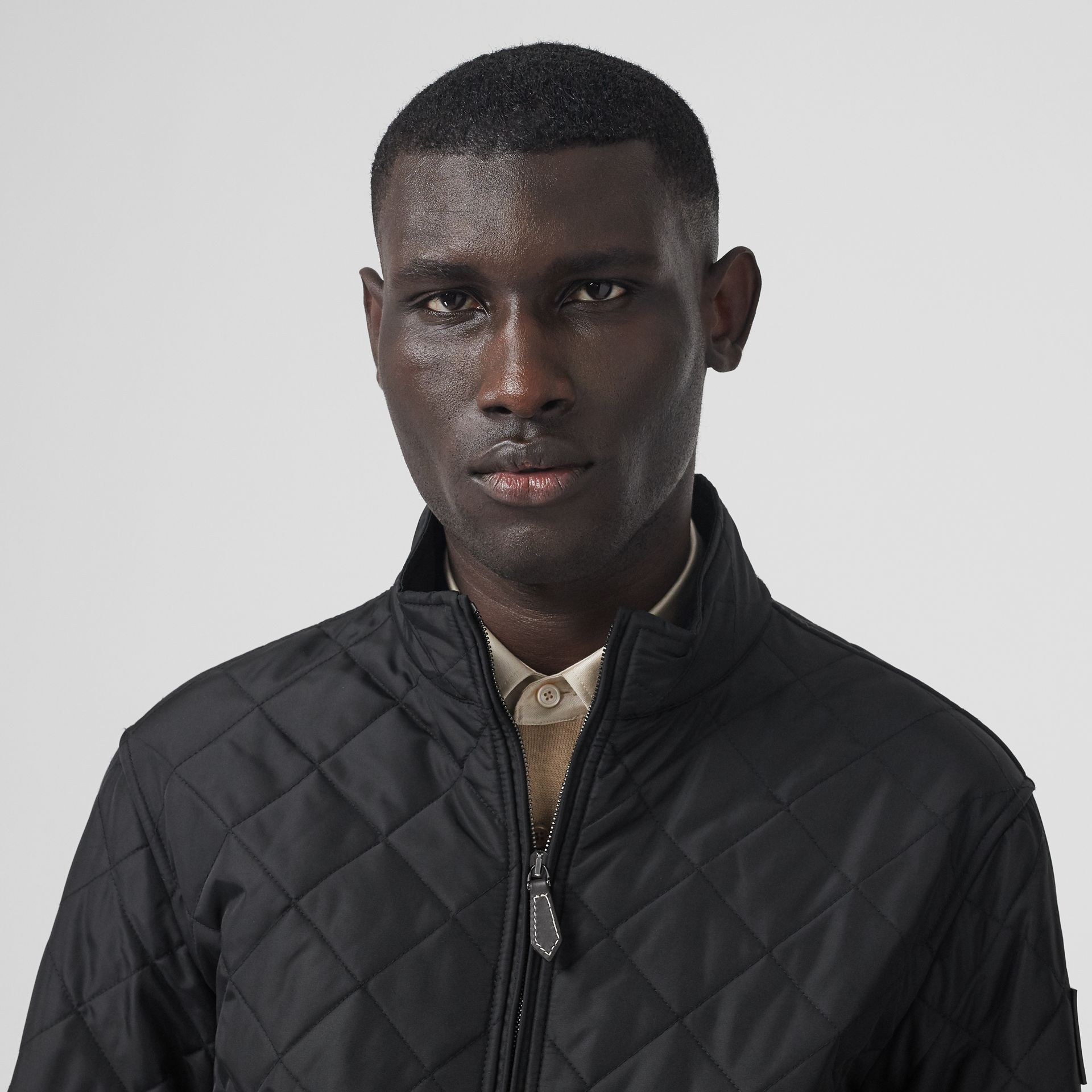 Diamond Quilted Thermoregulated Jacket in Black - Men | Burberry - gallery image 1