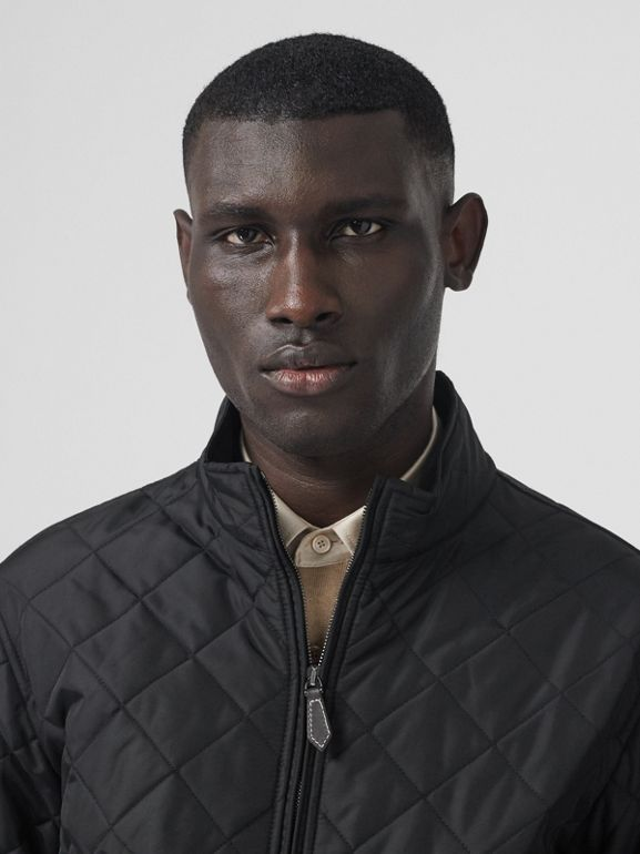 Diamond Quilted Thermoregulated Jacket in Black - Men | Burberry United States - cell image 1