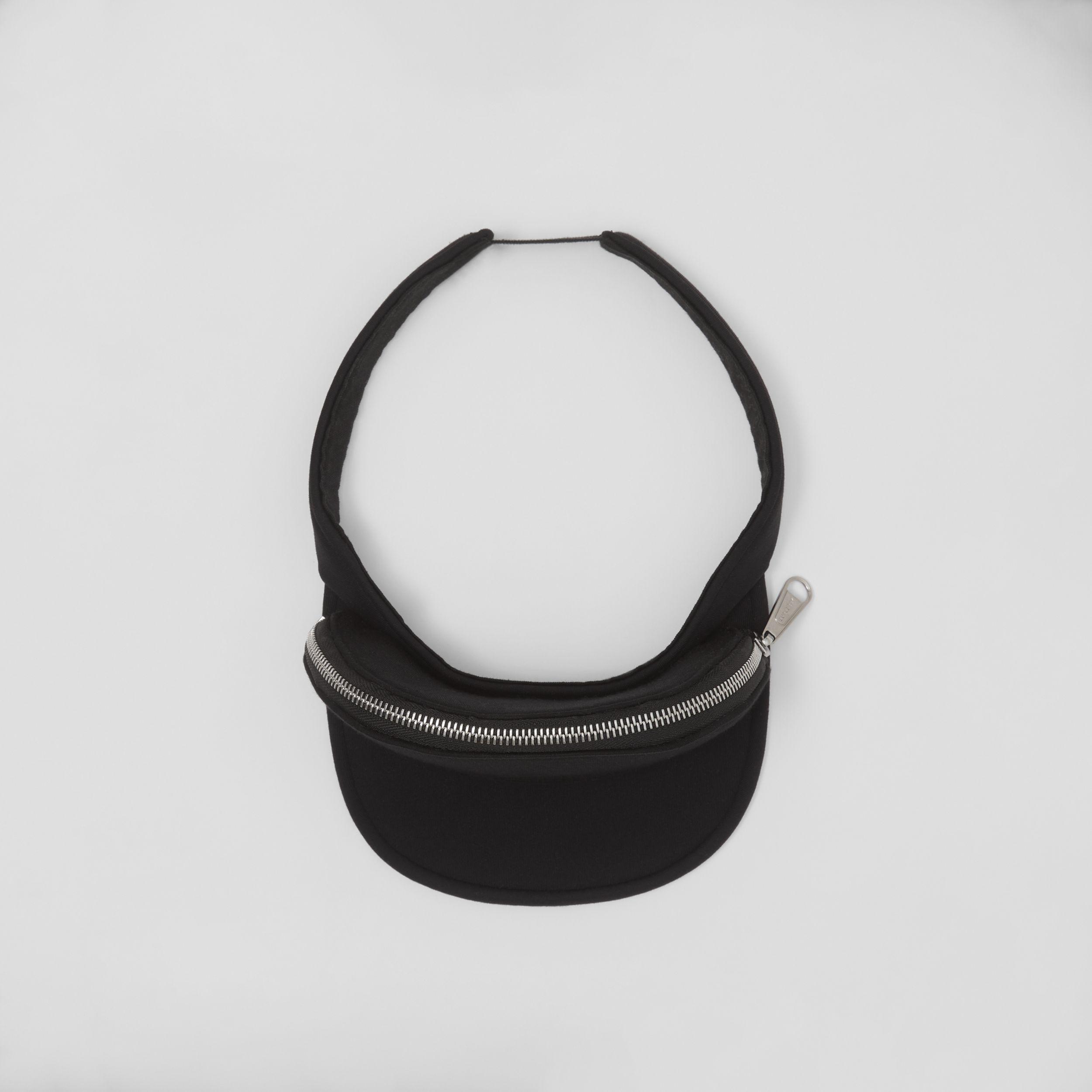 Neoprene Visor with Detachable Zip Pocket in Black | Burberry United Kingdom - 4
