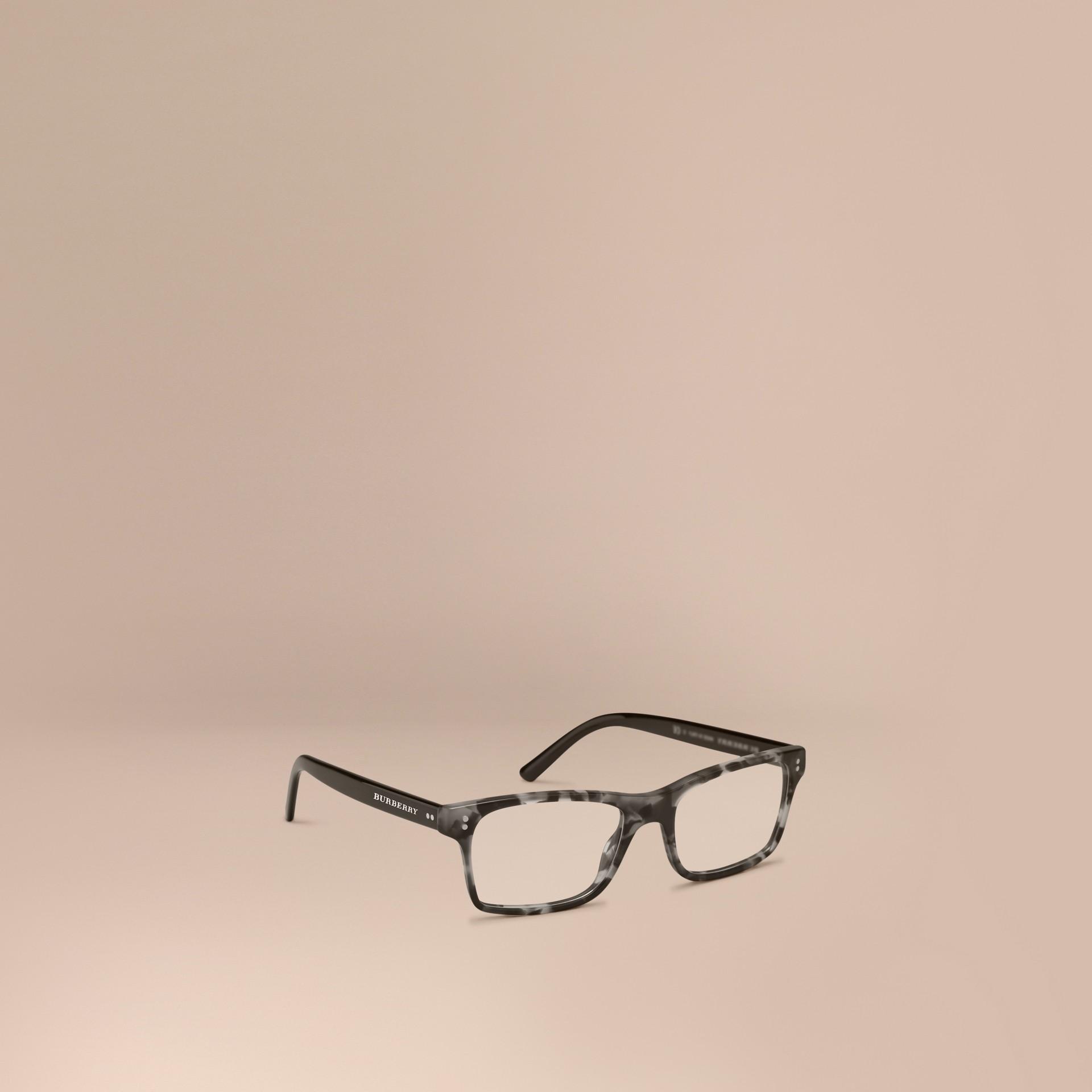 Pale grey melange Rectangular Optical Frames Pale Grey Melange - gallery image 1