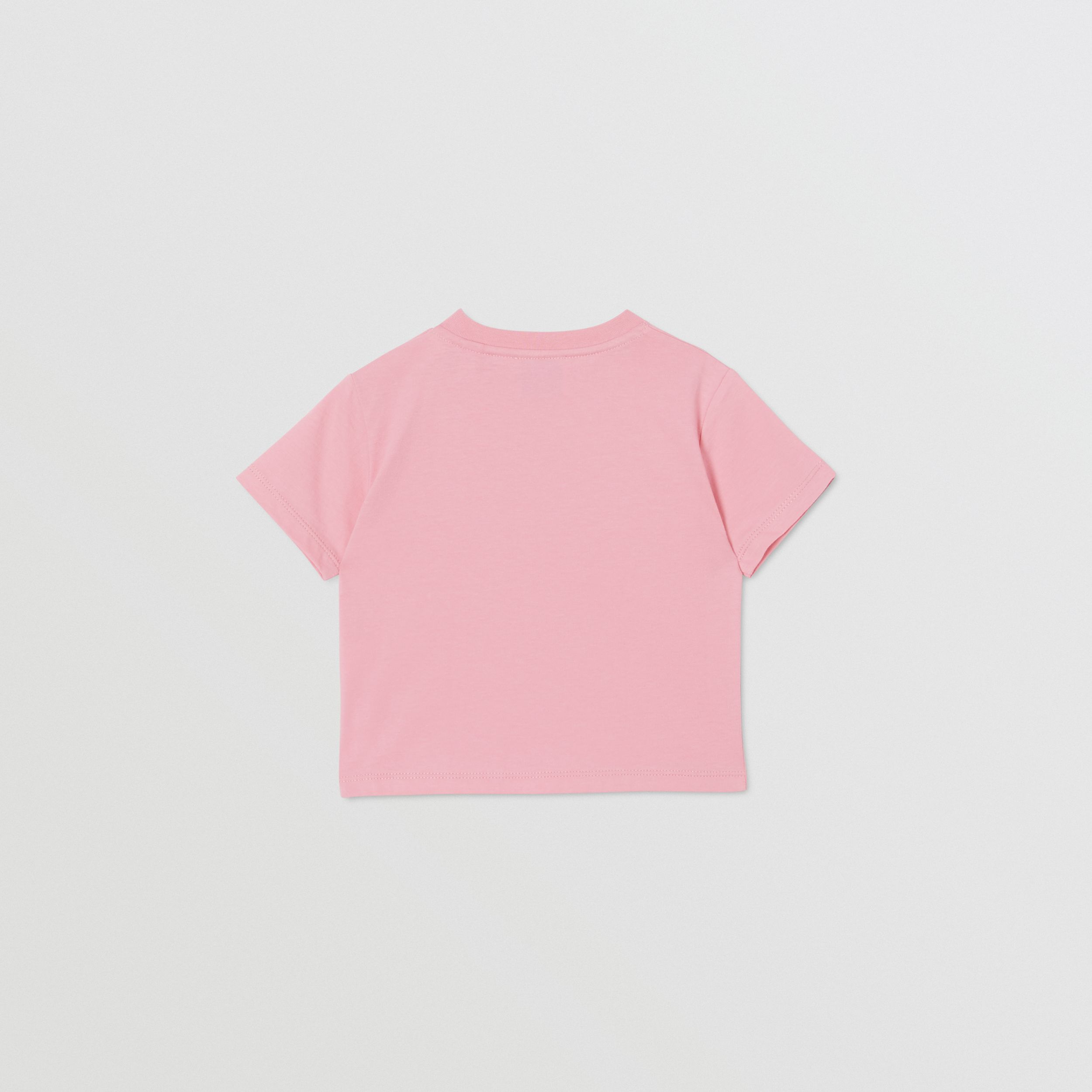 Logo Print Cotton T-shirt in Candy Pink - Children | Burberry - 4