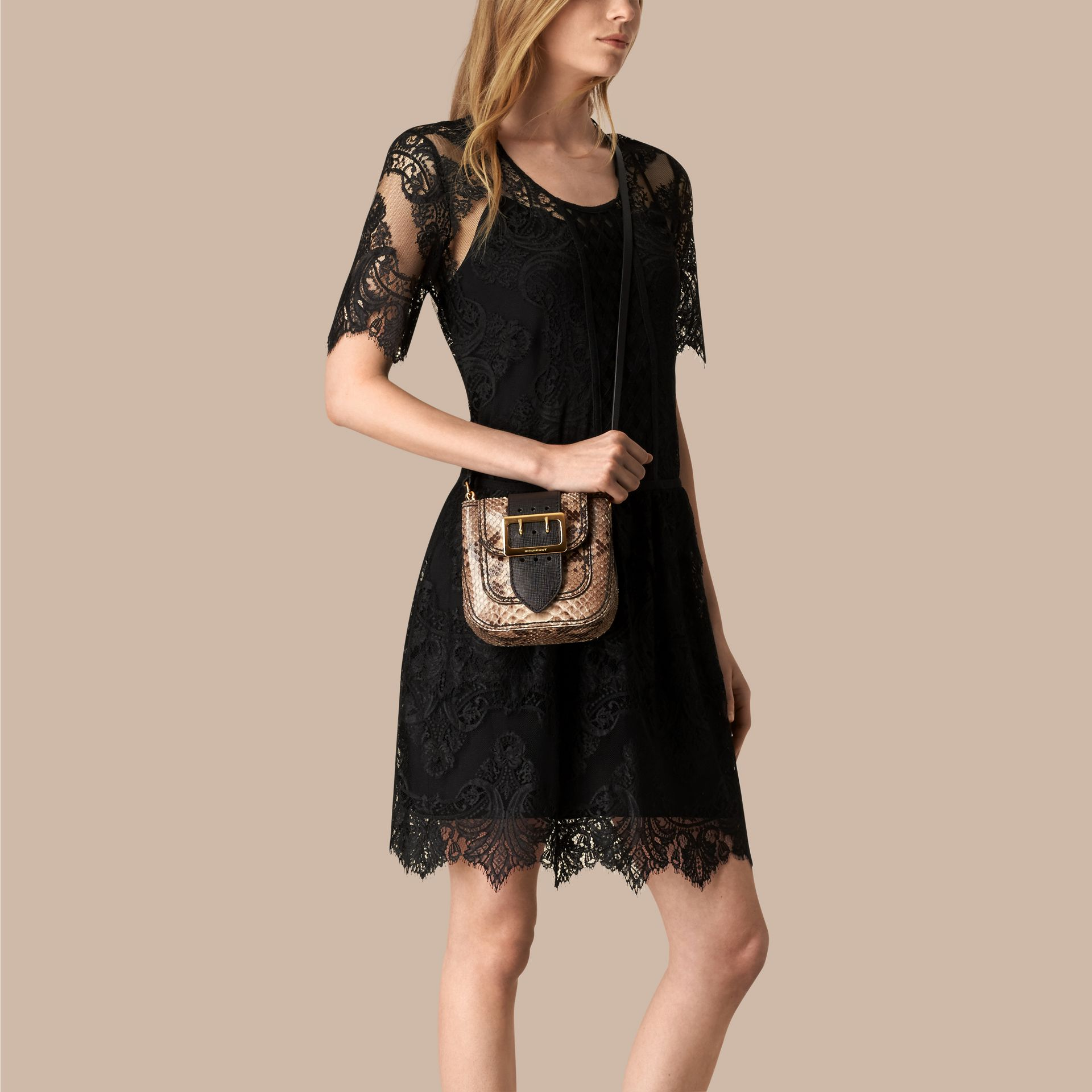 The Small Square Buckle Bag in Python Limited Edition - gallery image 3