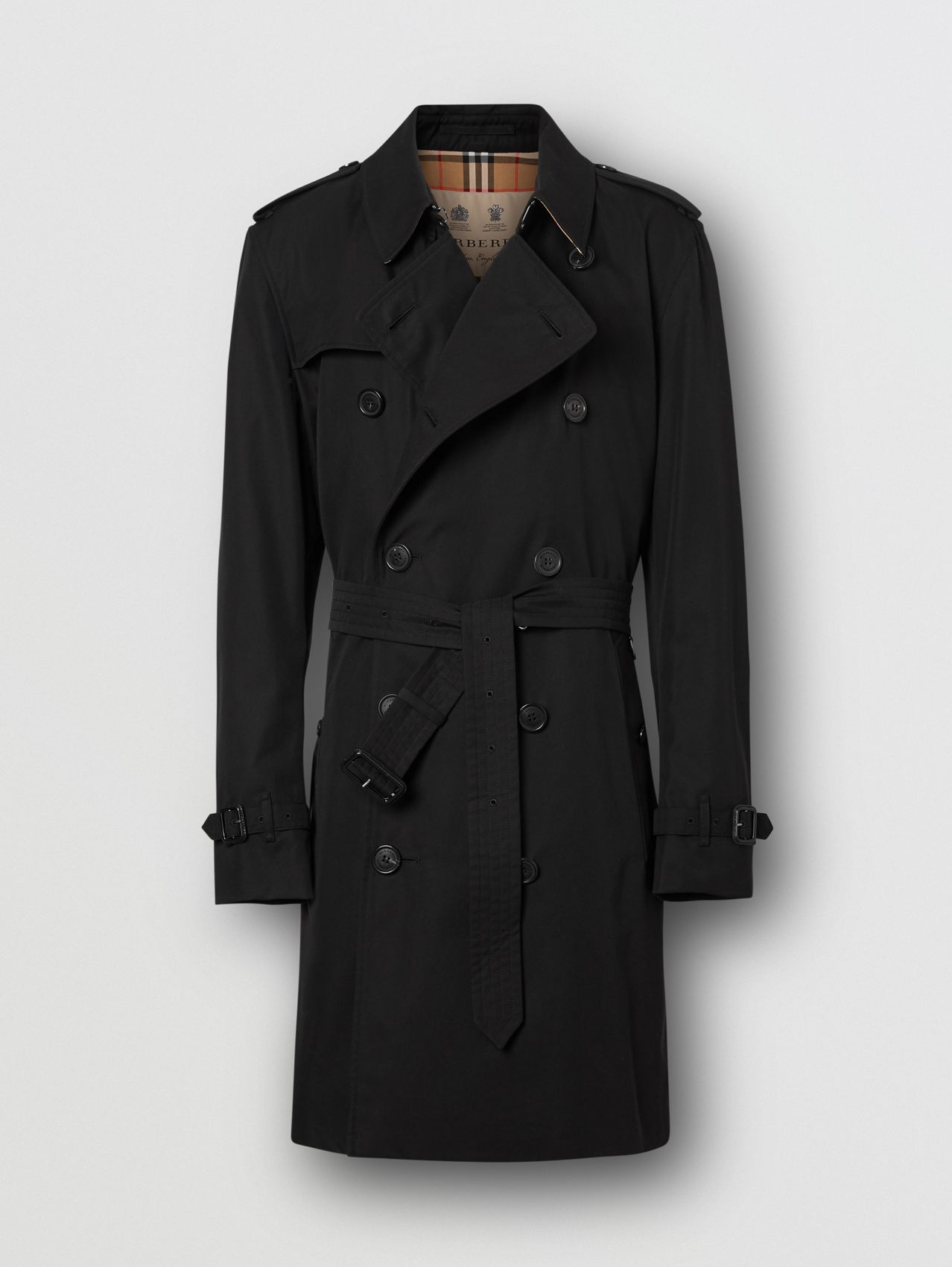 The Mid-length Kensington Heritage Trench Coat (Black)